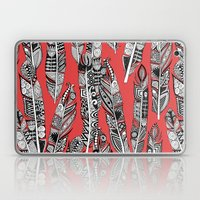 geo feathers red Laptop & iPad Skin
