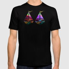 Ocean-Race  no21 SMALL Mens Fitted Tee Black