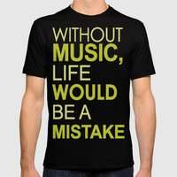 Without Music Mens Fitted Tee Black SMALL