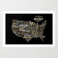 UNITE STATES OF BEARDLY … Art Print