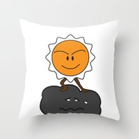 my day without you Throw Pillow