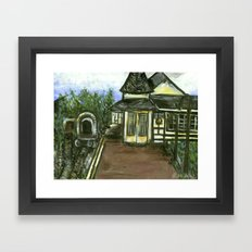 New Hope Train Station Framed Art Print