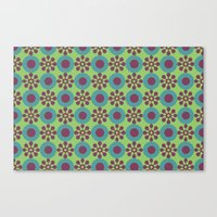 Retro Modern Flower Power Canvas Print