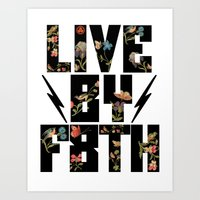 LIVE BY F8TH FLORAL Art Print