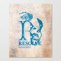 Resolve - On a course of action Canvas Print