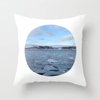 Telescope 9 ice floe Throw Pillow