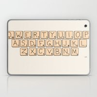 Qwerty Scrabble  Laptop & iPad Skin