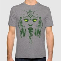 The Green Fairy Mens Fitted Tee Tri-Grey SMALL