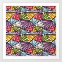 Geometric Doodles Art Print