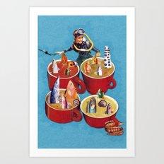 Fish Soup Art Print