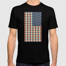 Plaid Flag. Mens Fitted Tee SMALL Black