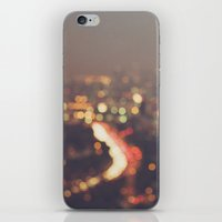 bokeh photograph, Los Angeles, Abstract Mulholland iPhone & iPod Skin