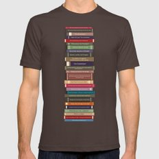 Ghostbusters stacked books Mens Fitted Tee Brown SMALL