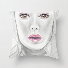 Porcelain Beauty Throw Pillow
