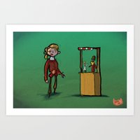 #34 - Escape From Monkey… Art Print