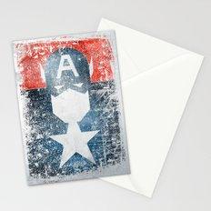 Yankee Captain grunge superhero Stationery Cards