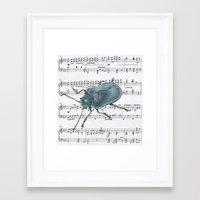 Music Beetle Framed Art Print