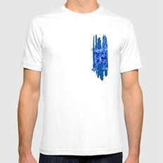 TMNT Rock: Leo Mens Fitted Tee White SMALL