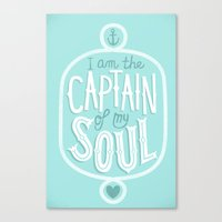 I Am The Captain Of My S… Canvas Print