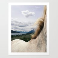 Art Print featuring Horse Back by Kevin Russ