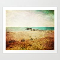 Beach in southern France - summer memories Art Print