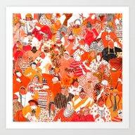 Art Print featuring Girls by Mouni Feddag