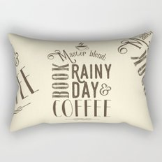 Coffee, book & rainy day II Rectangular Pillow
