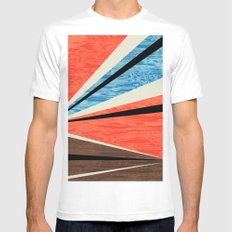 Graphic Woodgrain White SMALL Mens Fitted Tee
