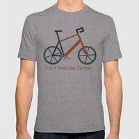 Orange Bike Mens Fitted Tee Athletic Grey SMALL