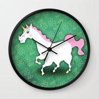 Big Bold and Beautiful Unicorn Wall Clock