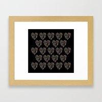 Hearts Heart Multiple On… Framed Art Print