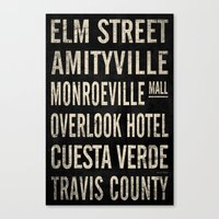 Vintage Horror Themed Subway Sign (v.1) Canvas Print
