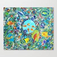 Fish Party Canvas Print