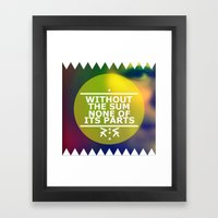 Sum And Parts Framed Art Print