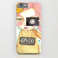 Smile ! girl with photo camera iPhone 6 Slim Case