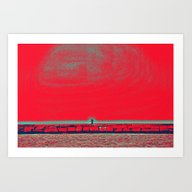 Art Print featuring The Fisherman by Pedro Bossi