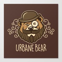 Urbane Bear Canvas Print