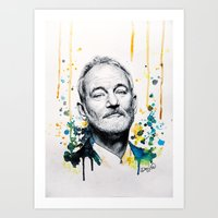 bill murray Art Prints featuring Bill Murray by Denise Esposito
