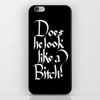 Pulp Calligraphy iPhone & iPod Skin