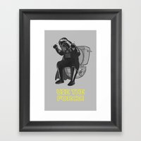 Use The Force! Framed Art Print