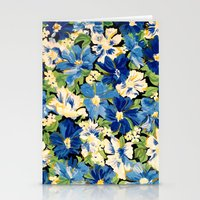 Flower Fabric Stationery Cards