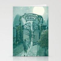 The Night Gardener - Grimloch Park Stationery Cards