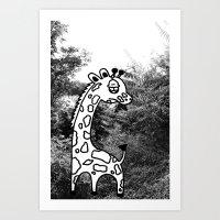 Art Print featuring Giraffe  by Gnarleston
