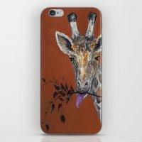 Mahagony Giraffe iPhone & iPod Skin