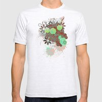 Enchanted Flowers Mens Fitted Tee Ash Grey SMALL