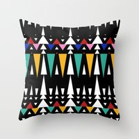 Tribal Fun 2 Throw Pillow
