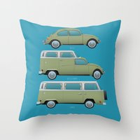 Beetle Camper Throw Pillow