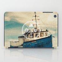 Blue Brown Vintage Nauti… iPad Case