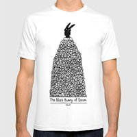 The Black Bunny of Doom in his natural habitat Mens Fitted Tee White SMALL