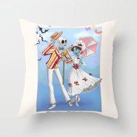 A Jolly Nightmare Throw Pillow